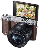 NX3000 Mirrorless Digital Camera with 20-50mm Lens (Brown) NX3000