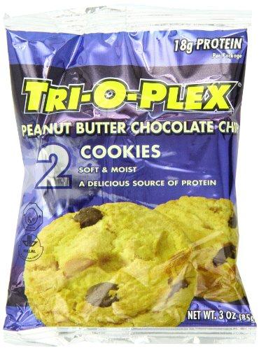 Chef Jays Tri-O-Plex Cookies, Peanut Butter Chocolate Chip, 2 Per Package, 12 Packs Per Box
