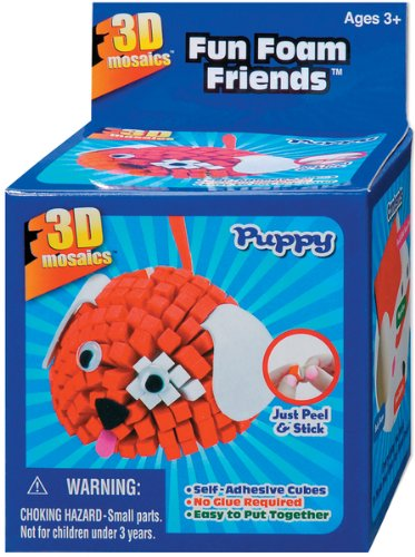 Fun Foam Friends 3D Mosaic Kit, Puppy - 1