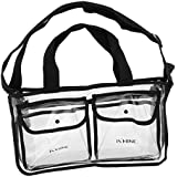 Segolike Large Transparent Makeup Bag Travel Case Cosmetic Wash Toiletry Storage Organizer Clear Black