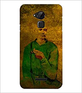 PrintDhaba Man Painting D-3255 Back Case Cover for COOLPAD NOTE 3 LITE (Multi-Coloured)
