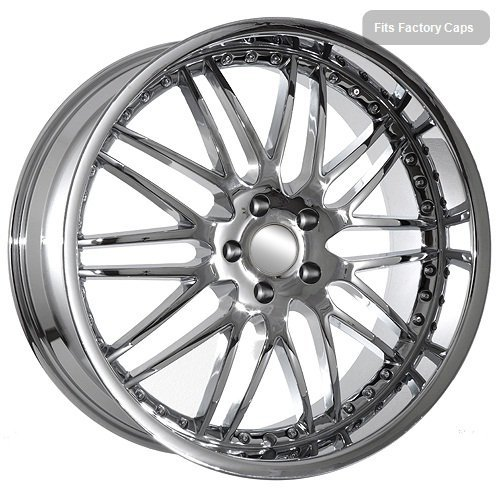 22 Inch BMW Chrome Deep Dish Mesh Rims Fit 6 7 Series