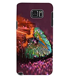 ColourCraft Peacock Feather Design Back Case Cover for SAMSUNG GALAXY NOTE 5