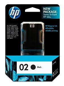 HP 02 C8721WN#140 Ink Cartridge in Retail Packaging-Black