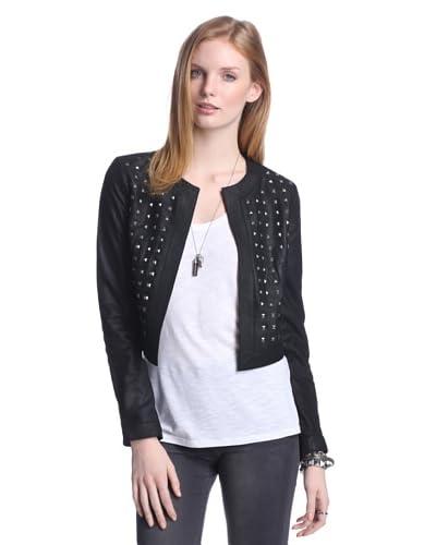 BB Dakota Women's Blakely Leather Stud Jacket  [Black]