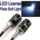 Globle New 2* White LED Motorcycle, Car License Plate Screw Blot Light