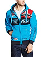 Geographical Norway Sudadera con Cierre Flyer (Turquesa)