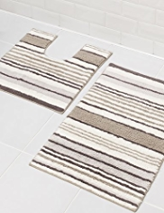 Spa Striped Bath & Pedestal Mats