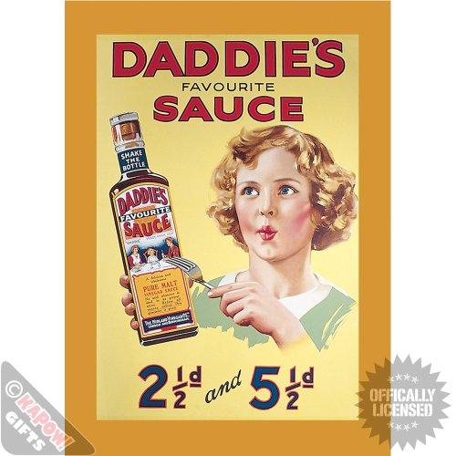 piccola-in-acciaio-cartello-heinz-daddie-s-sauce-poster-pubblicitario-vintage-art-in-metallo