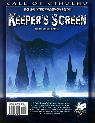 Call of Cthulhu Keeper's Screen (for 6th edition)