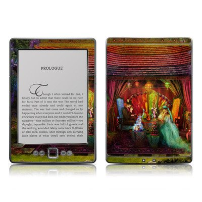 A Mad Tea Party Design Protective Decal Skin Sticker - Matte Satin Coating For Amazon Kindle 4 (5-Way Controller - 4Th Gen / Release In Oct 2010)