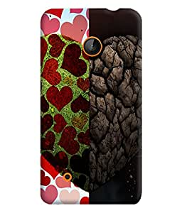 PrintVisa Romantic Love Heart Sort Hard 3D Hard Polycarbonate Designer Back Case Cover for Nokia Lumia 530