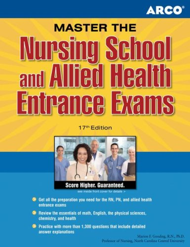 Arco Master The Nursing School And Allied Health Entrance Exams, 17Th Edition