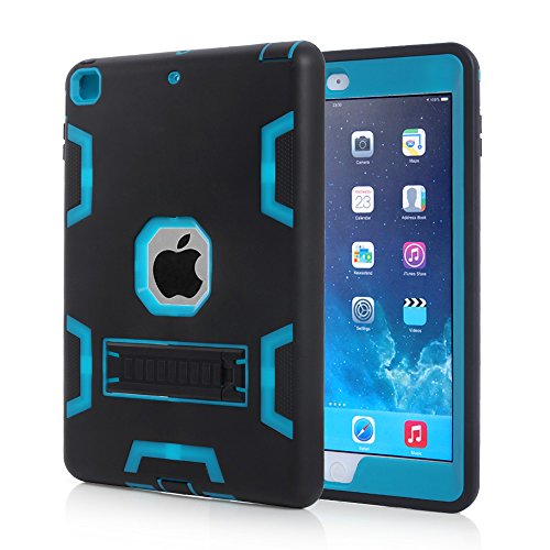 iPad Air Case, MOOST Heavy Duty Rugged Hybrid Protective With KickStand Case Cover for Apple iPad Air / iPad 5 (2013 Release) (Black/Blue) (Cool Ipad Air 1 Cases compare prices)