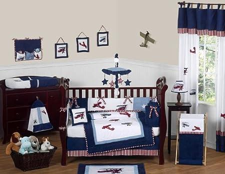 Sweet Jojo Designs Vintage Aviator Crib Bedding