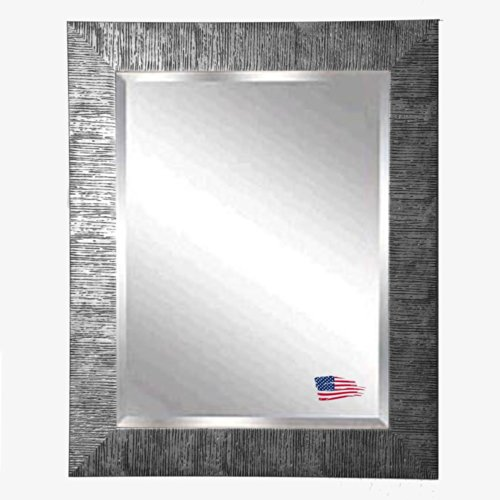 American Made Rayne Safari Silver Beveled Wall Mirror, 30.5 X 36.5 front-432106
