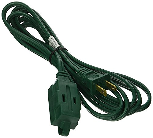 JF 15 feet Holiday Extension Cord Green Color for Christmas decoration Light (Low Profile Wall Box compare prices)