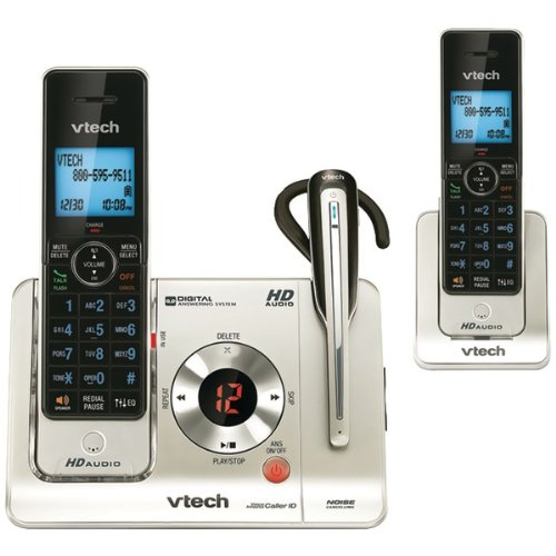 Vtech Vtls6475-3 Dect 6.0 Two-Handset Phone With Cordless Headset