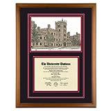 Northern Illinois University Diploma Frame with NIU Lithograph Art Print ~ Old School Diploma...