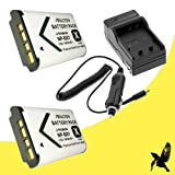 Two Halcyon 1800 mAH Lithium Ion Replacement Battery and Charger Kit for Sony Cyber-shot DSC-RX100 II Digital Camera and Sony NP-BX1