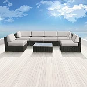 Sale genuine luxxella outdoor patio wicker sofa sectional for Furniture 7 customer service