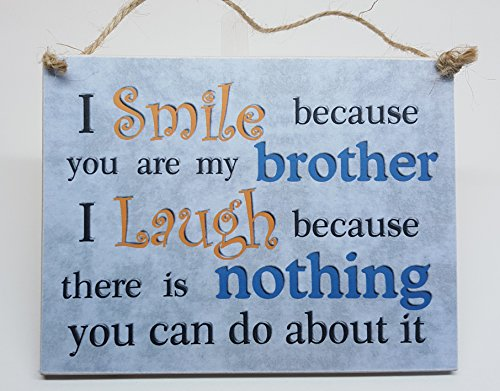 i-smile-because-you-are-my-brother-hanging-plaque-brother-gift-birthday-christmas