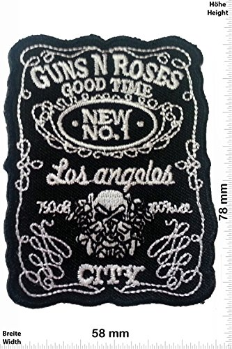 """Patch - Guns n Roses - Los Angeles City - Good Time - Musica - Guns n Roses - Guns n Roses- toppa - applicazione - Ricamato termo-adesivo - Patch"""""""