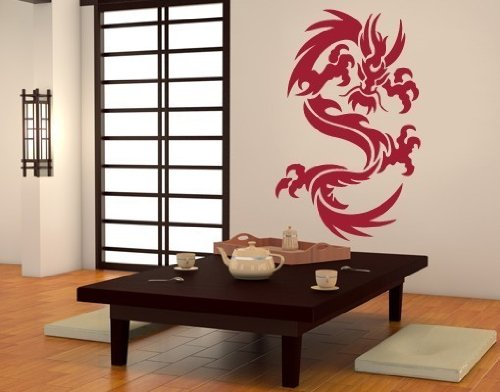 Beautiful Dragon Wall Decals Easy To Apply And Remove - Custom vinyl decal application instructionshow to apply wall decals windafurniture
