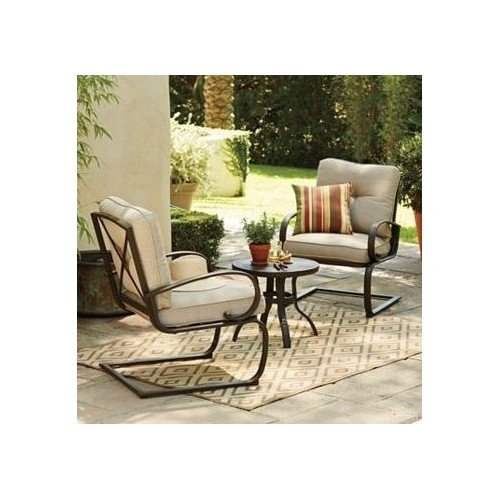 Patio Set 3 Piece Patio Furniture Set  Steel