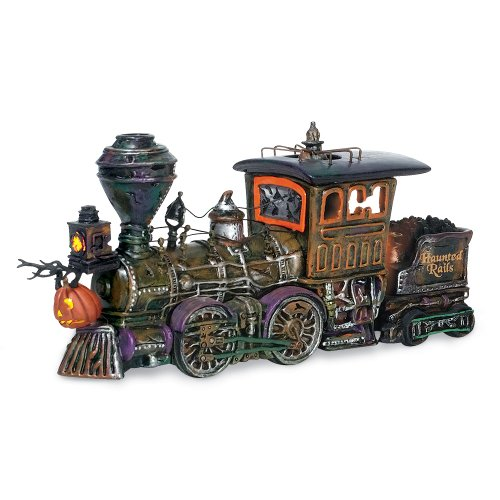 Dept56 haunted rails and train collectibles - Department 56 Snow Village Halloween Haunted Rails Engine