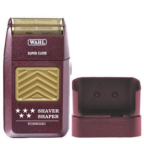 Wahl 5-Star Rechargeable Mens Foil Shaver With Bump Prevent Technology, And Close Cutting Hypoallergenic Gold Foil Shaving Head, Features A Convenient Trimming Function, Rechargeable Stand, Cleaning Brush And Operating Instructions Included