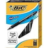 BIC Gel-ocity Retractable Gel Pen, Medium Point (0.7 mm), Black, 24-Count