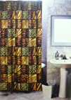 5pcs Bath Rug Set Leopard Print Bathroom Rug Shower Curtain