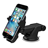 TWOPAGES Car Phone Mount Holder Cradle Flexible 360 Rotating with Suction Cup Car Accessories for Smartphones or GPS Devices (Black)