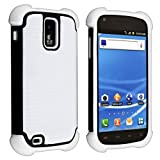 Hybrid Armor Case for Samsung Galaxy S II S2 Hercules aka T-Mobile T989, White/ Black
