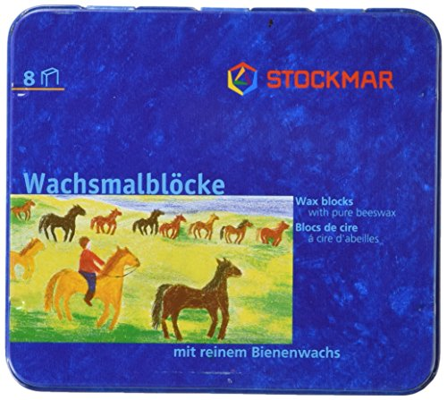 Stockmar Beeswax Block Crayons,8 Assorted Waldorf Colors in Tin (Modeling Beeswax compare prices)
