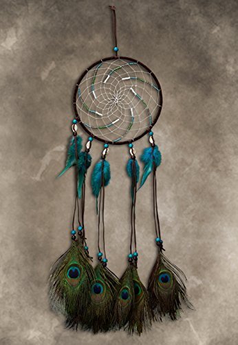 New! Premium Handmade Dream Catcher - Peacock Feather Dreamcatcher Indian Tradition | SPUNKYsoul Collection