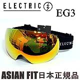 ELECTRIC(エレクトリック) エレクトリック ゴーグル ジャパンフィット EG3 GLOSS BLACK BRONZE RED CHROME (15-16 15 16)スノーボード ゴーグル ELECTRIC
