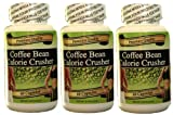 Coffee Bean Calorie Crusher all natural energy 1130 MG per day, 3 months 3 Bottles Supports a Healthy Weight