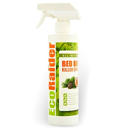 EcoRaider Bed Bug Killer Spray 16 OZ, Green + Non-toxic, 100% Kill +