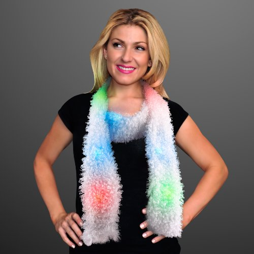 Light Up Led Scarf With Multicolor Lights