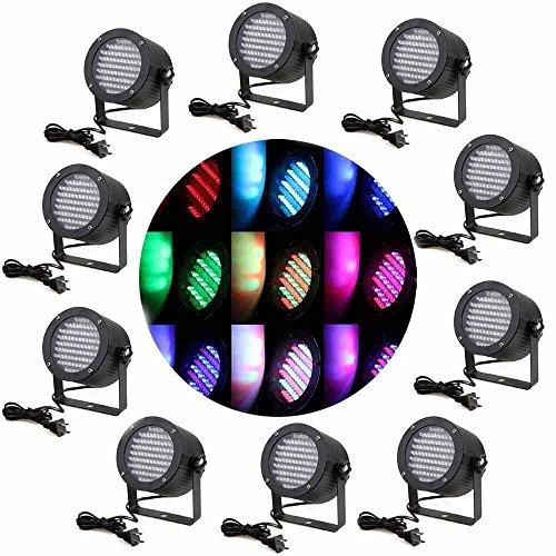 Eteyo 10Pcs 86 Rgb Led Stage Light Par Laser Projector Lighting Dj Show Party Lamp Dmx-512