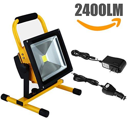 Halogen Work Lamp Flood Light 150w Portable Garage: Nestling CH-20WJC 20W Rechargeable Portable LED Work Light