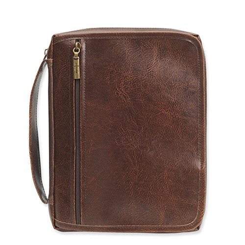 Leather-Look Bible Cover Organizer, Brown, Large (Gregg Gift Company compare prices)