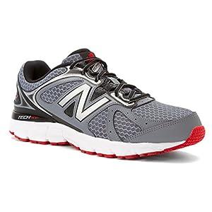New Balance Men's M560V6 Running Shoe, Grey/Black/Red, 12 4E US