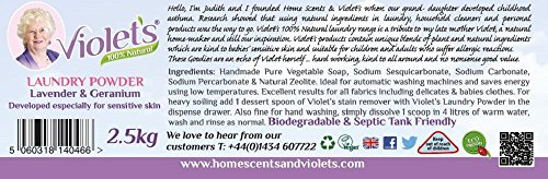 Violet's Natural Laundry Powder Lavender and Geranium 2.5kg
