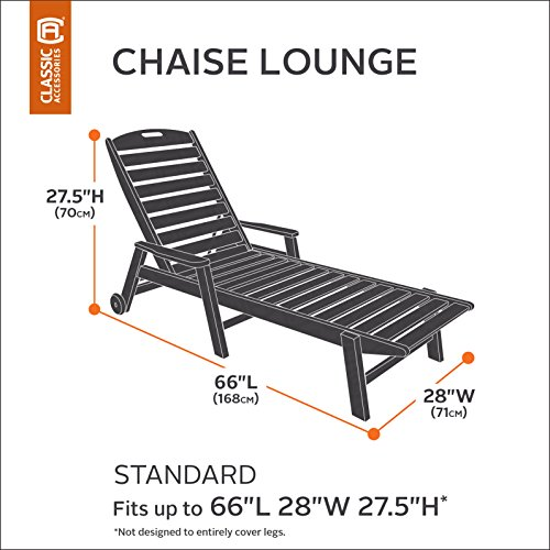 Classic accessories 55 361 011901 ec sodo patio chaise for Chaise lounge accessories