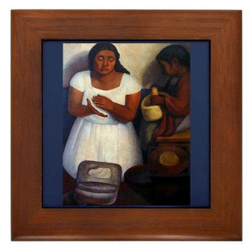 Cafepress Diego Rivera Art The Tortilla Maker Framed Tile