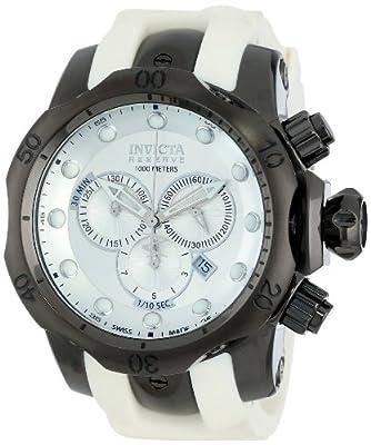 Invicta Men's 11966 Venom Reserve Silver Dial White Polyurethane Strap Watch