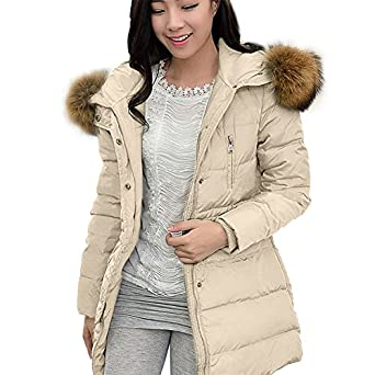 damen winter jacke mit fellkapuze damen parka winter mantel damenmantel lang bekleidung. Black Bedroom Furniture Sets. Home Design Ideas